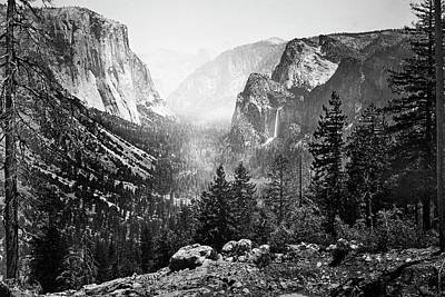 Waterfall Photograph - Yosemite Valley Inspiration Point by Visions of History