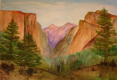 Julie Lueders Artwork Painting - Yosemite Valley by Julie Lueders