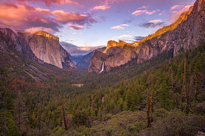 Cathedral Rock Photograph - Yosemite Valley Spring Sunset by Scott McGuire