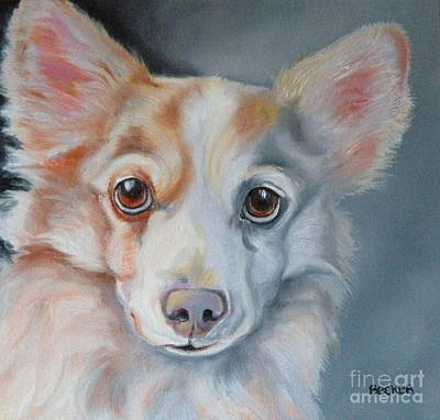 Corgi Drawing - You Are All Mine by Susan A Becker