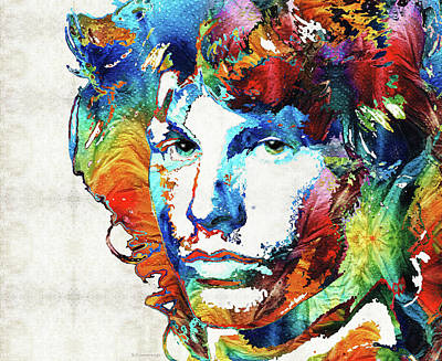 Lead Singer Painting - You Are Free - Jim Morrison Tribute by Sharon Cummings