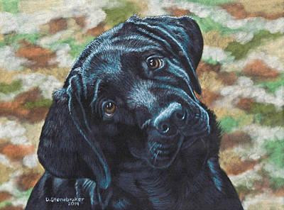 Black Labrador Drawing - You Called? by Debbie Stonebraker