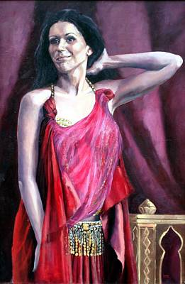 Mideast Painting - You Dance Like A Flower Grows by Janet Lavida