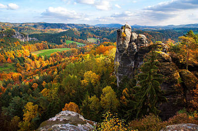 You Give Me The Wings. Saxon Switzerland Print by Jenny Rainbow