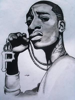 Wiz Drawing - You Know What It Is by Shavonne  Bryan