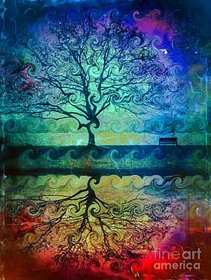 Tree Roots Digital Art - You Left Me Here Waiting by Tara Turner