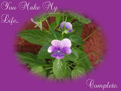 Garden Photograph - You Make My Life....  Purple by Dawn Hay