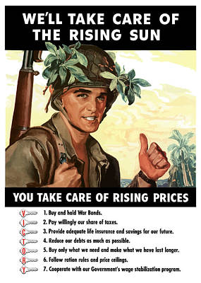 Americana Painting - You Take Care Of Rising Prices by War Is Hell Store