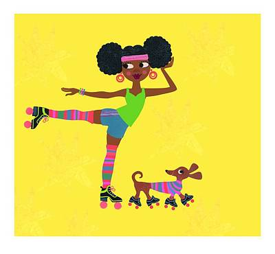 Young African American Woman Print by Gillham Studios