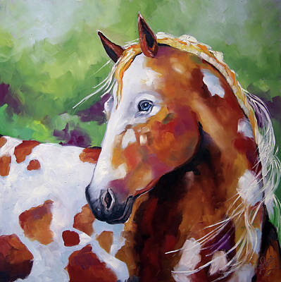 Painting - Young Appaloosa by Laurie Pace