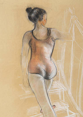 Ballet Painting - Young Ballerina by Susan Adams
