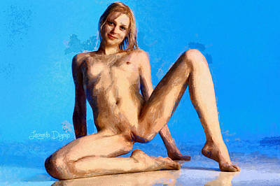 Young Digital Art - Young Beauty - Da by Leonardo Digenio