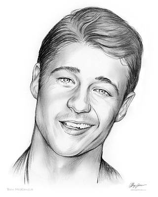 O Drawing - Young Ben Mckenzie by Greg Joens