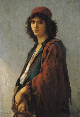 Slavic Painting - Young Bohemian Serb by Charles Landelle