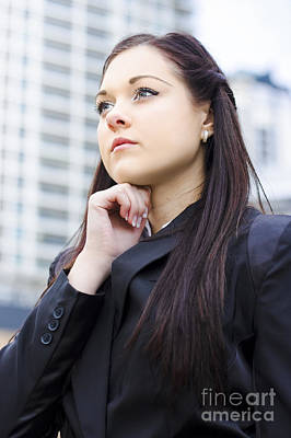Ambition Photograph - Young Business Woman With Grand Business Ideas by Jorgo Photography - Wall Art Gallery