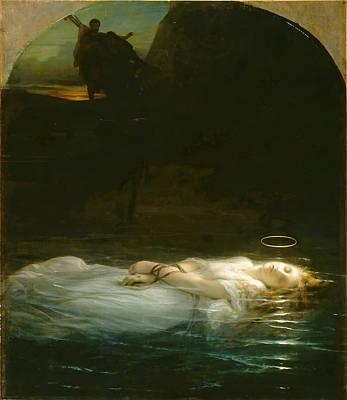 Paul Delaroche Painting - Young Christian Martyr by Paul Delaroche