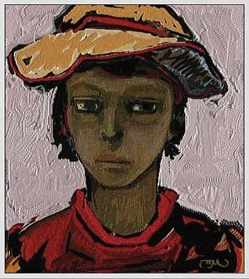 Post Impressionism Mixed Media - young Gypsy YG 2 by Pemaro