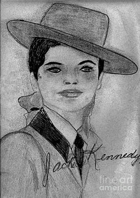 Young Jackie Kennedy Print by Sonya Chalmers