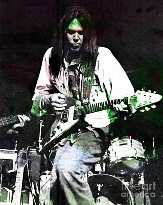 Neil Young Digital Art - Young Neil by John Malone