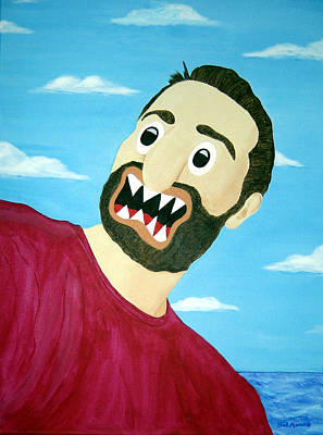 Funism Painting - Young Old Salt - Frank Dibisceglie by Sal Marino