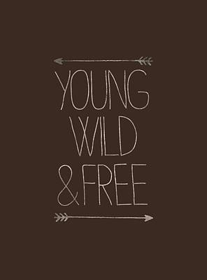 Young Wild And Free Hipster Print by Illustratorial Pulse