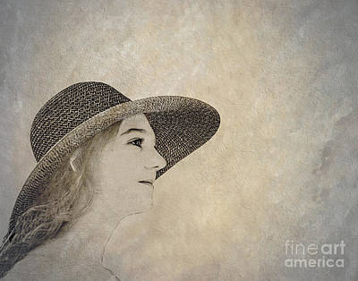 Young Woman In Hat Print by Randy Steele