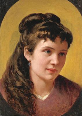 Vito Dancona Painting - Young Woman by Vito D'Ancona