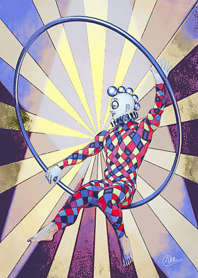 Younger Tightrope  Print by Quim Abella