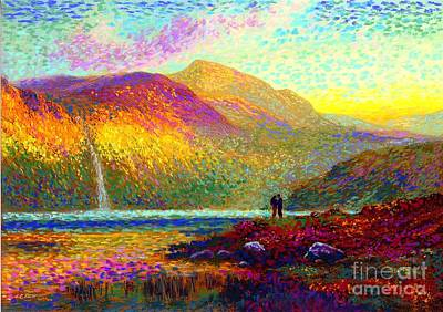 Impressionism Painting - Your Love Colors My World, Modern Impressionism, Romantic Art by Jane Small