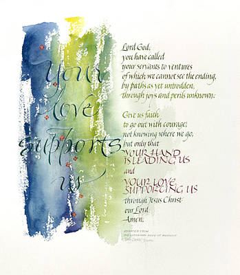 Your Love Supports Us Print by Judy Dodds