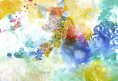 Abstract Collage Painting - Your Smooth Voice by Gloria Von Sperling