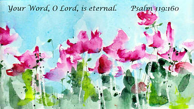 Encouragement Painting - Your Word O Lord by Anne Duke