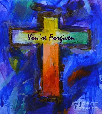You're Forgiven - 1 John 1 9 - Christian Poster Print by Philip Jones