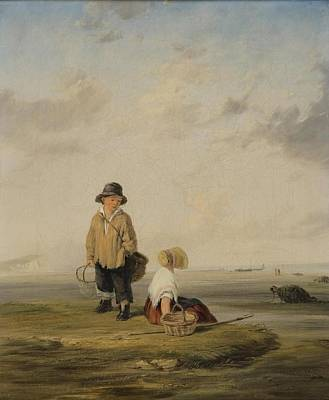 Youthful Painting - Youthful Shrimpers by William Collins