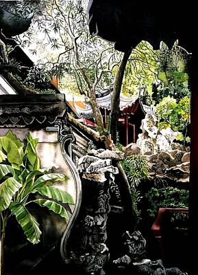 Yu Garden In Shanghai Print by Alfred Ng