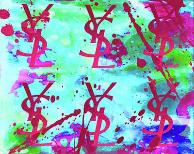 Yves Saint Laurent Poster 1 Print by Del Art