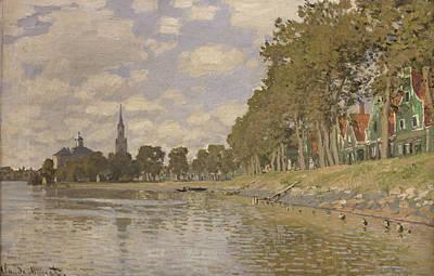 Zaandam Print by Claude Monet
