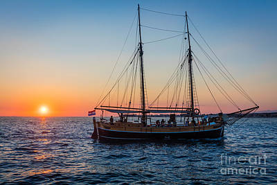 Water Vessels Photograph - Zadar Ship by Inge Johnsson