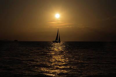 Sailboat Photograph - Zadar Sunset No 3 by Chris Fletcher