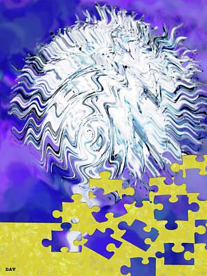 Zag Puzzle Print by Debra     Vatalaro