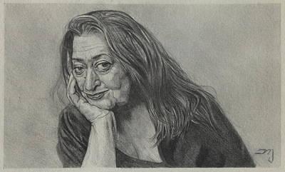 Zaha Hadid - Iraqi-british Architect - 1950 - 2016    Original by Daniil Yakubovich