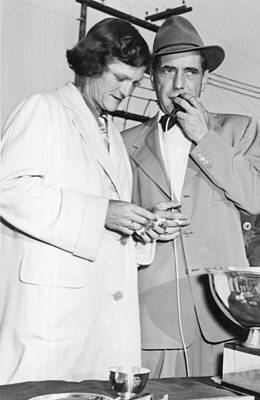 Ella Photograph - Zaharias And Bogart by Underwood Archives