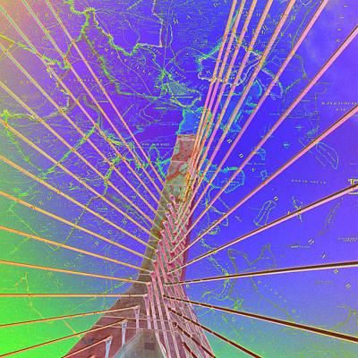 Zakim Bridge Boston V8 Print by Brandi Fitzgerald