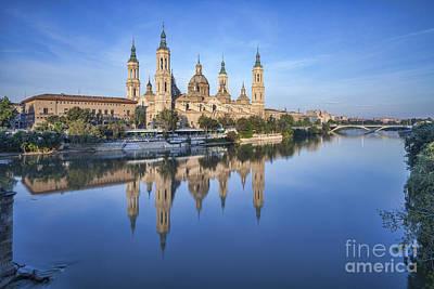 Zaragoza Reflection Print by Colin and Linda McKie