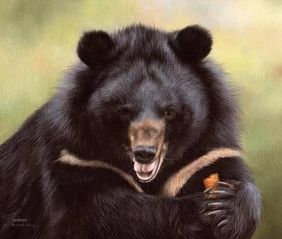 Zebedee Moon Bear - In Support Of Animals Asia Print by Rachel Stribbling