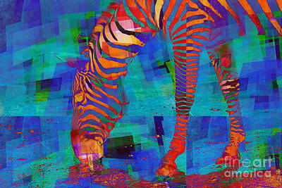 Zebra Digital Art - Zebra Art - 44 by Variance Collections