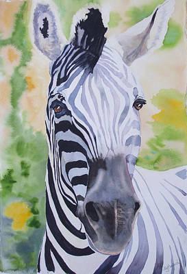 Zebra Painting - Zebra Crossing by Ally Benbrook