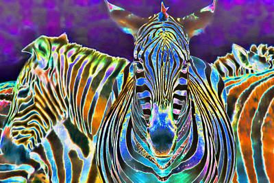 Zebra Crossing Print by Nadia Sanowar
