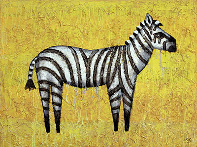 Zebra Painting - Zebra by Kelly Jade King