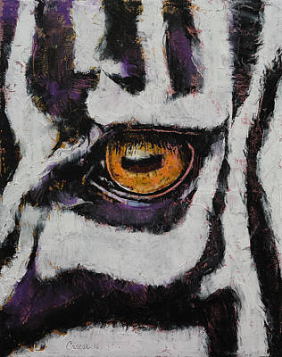 Zebra Painting - Zebra by Michael Creese